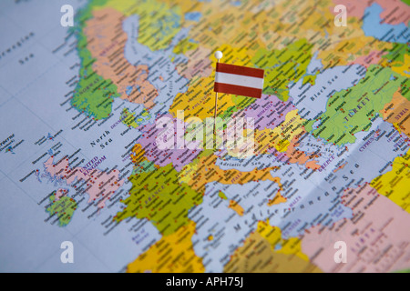 Vienna Austria Map Stock Photo Royalty Free Image Alamy - Vienna austria on world map