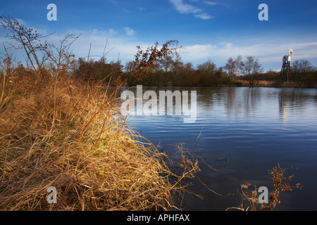 A scene beside the River Bure near Horning on the Norfolk Broads - Stock Photo