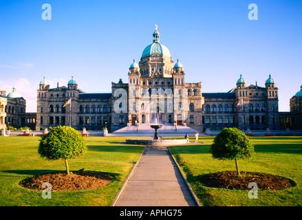 The Legislature Victoria Vancouver Island British Colombia Canada - Stock Photo