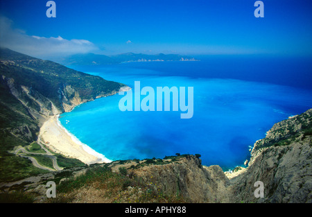 On a Greek Beach Ionian Island of Kefalonia Greece EU European Union Europe - Stock Photo