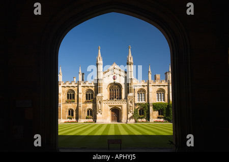 Corpus Christi College Cambridge University East Anglia summer sun sunshine Cambridgeshire England UK United Kingdom - Stock Photo