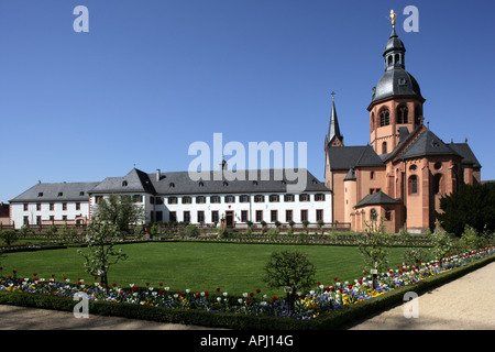 geography/travel, Germany, Hesse, Seligenstadt, churches, Einhard Basilica, built: circa 831, exterior view, former - Stock Photo