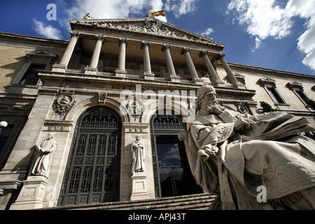 Bibloteca Nacional, The National Library, Madrid, Spain - Stock Photo