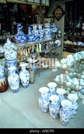 Vases Urns And Crockery At A Shop In The Ceramics Market Bat Trang