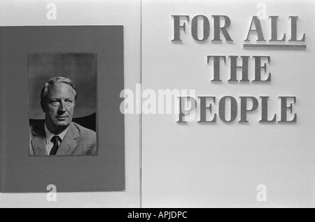 Close up of poster for Edward Ted Heath For  All the People. England  1973 Photograph by Homer Sykes - Stock Photo