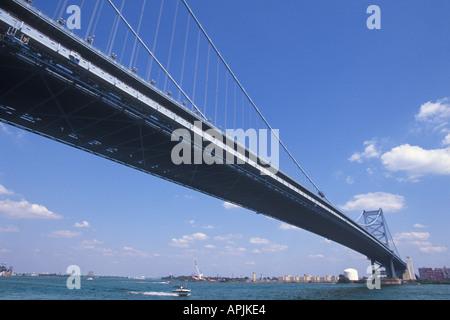 USA Pennsylvania Philadelphia PA Benjamin Franklin Bridge - Stock Photo