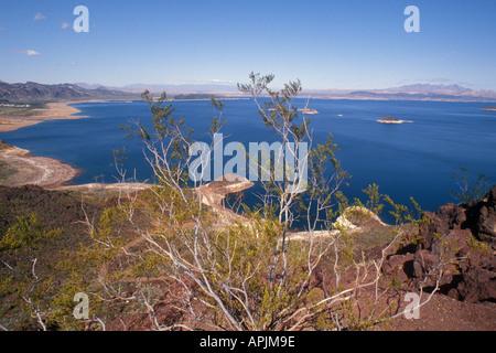 USA North America Nevada Lake Mead The Mojave Great Basin Hoover Dam - Stock Photo