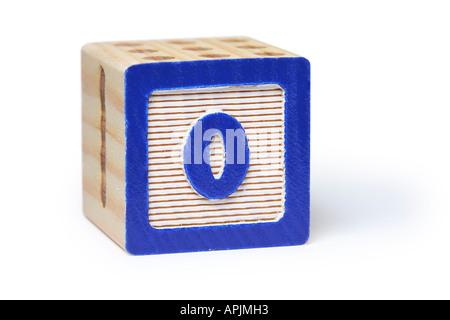 0 Block - Stock Photo