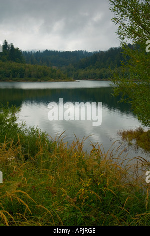 Lake Lepenica near Fuzine in Croatia, Europe - Stock Photo