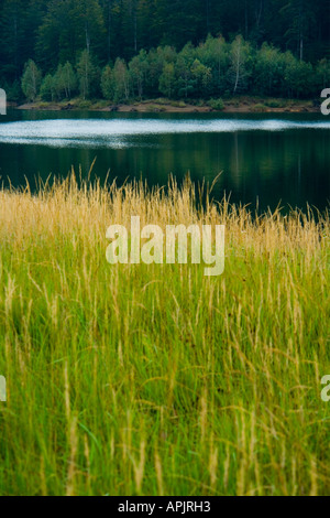 Peaceful lake Lepenica near Fuzine in Croatia, Europe - Stock Photo