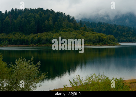 Lepenica lake near Fuzine in Gorski Kotar in Croatia, Europe - Stock Photo