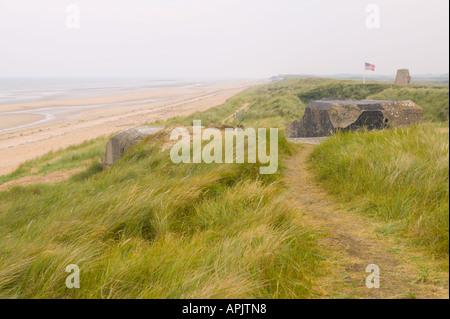Utah Beach WW2 Battle Site Normandie France - Stock Photo