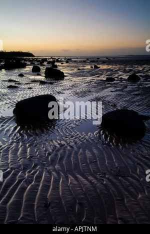 Dawn landscape of Strangford Lough Estuary Newtownards County Down Northern Ireland - Stock Photo