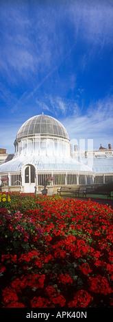 Panoramic image of Botanic Gardens glasshouse Belfast County Antrim Northern Ireland - Stock Photo