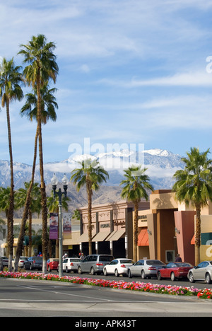 El Paseo shopping street in Palm Desert California - Stock Photo