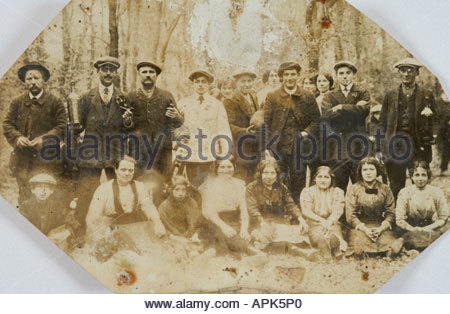 withering photo of a local community portrait - Stock Photo