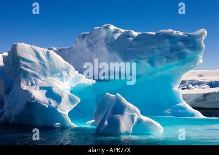 Detail of an iceberg, Enterprise Island, Antarctica - Stock Photo