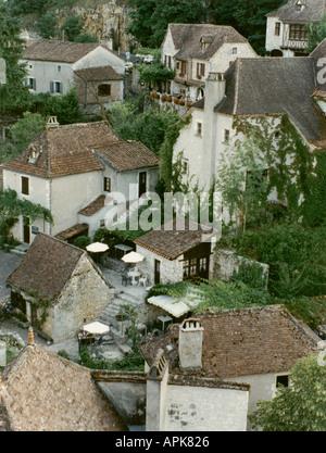 St Cirq La Popie Dordogne the most beautiful village in France - Stock Photo