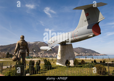 Fmr. General Firtina is looking after Ordu city with his jet fighter - Stock Photo