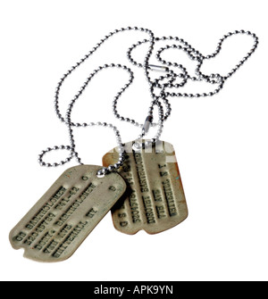 Military dog tags - Stock Photo