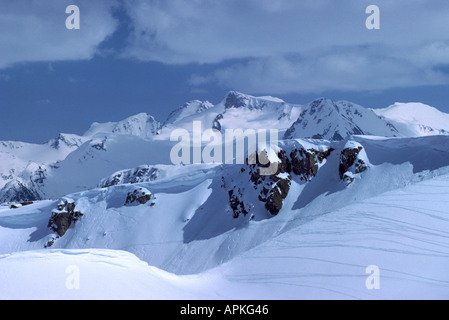 The 'Coast Mountain' Range seen from Whistler Mountain Whistler British Columbia Canada - Stock Photo