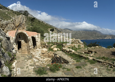 little church on the island Karpathos, Greece, Krpathos - Stock Photo