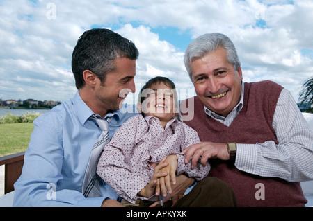 Three generations - Stock Photo