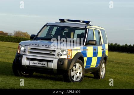 2004 landrover discovery police car - Stock Photo