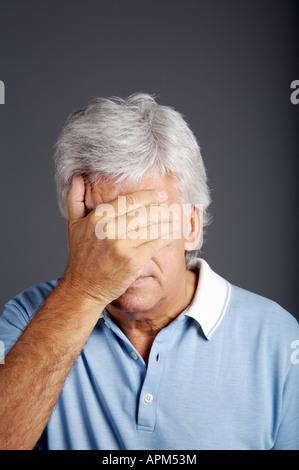 Studio portrait of a man, expressions - Stock Photo