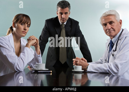 Hospital managers board meeting - Stock Photo