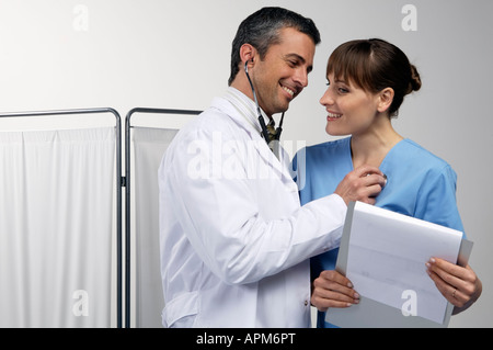 Male and female doctors - Stock Photo
