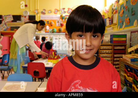 Classroom Photos taken at Albany Road Primary School Roath Cardiff South Wales - Stock Photo
