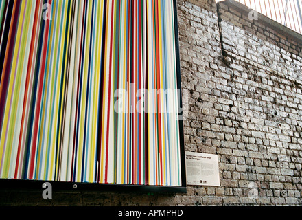 Poured Lines by Ian Davenport on Southwark Street in London - Stock Photo