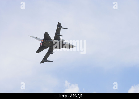Tornado G4 with afterburn turning and climbing away - Stock Photo