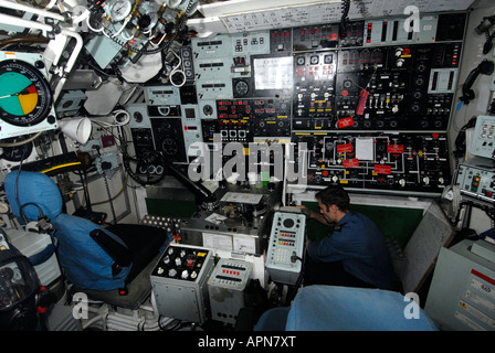 HMS Tireless nuclear submarine (S88) main control room - Stock Photo