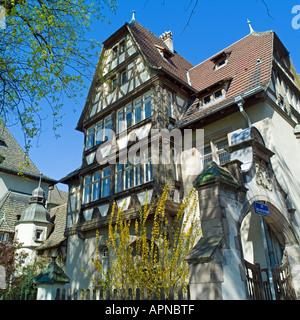 Alfred Marzolff house, school director housing, Lycée des Pontonniers, international high school, springtime, Strasbourg, - Stock Photo