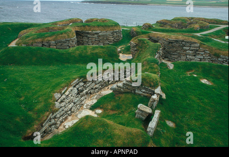 Skara Brae Orkney Scotland - Stock Photo