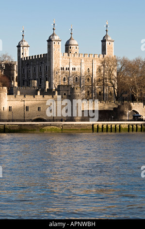 Tower of London viewed from the South Bank - Stock Photo
