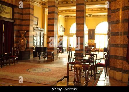 Lounge at Pera Palas Hotel in Istanbul, Turkey - Stock Photo