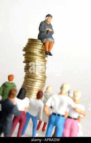 Inheritance tax / pension / savings concept - Stock Photo