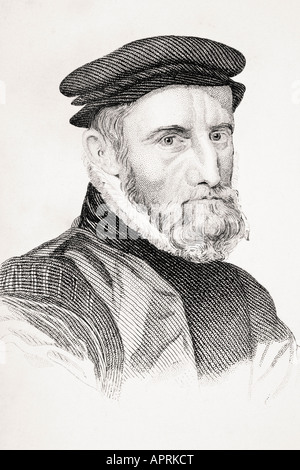 Sir Thomas Gresham 1518/19 1579  English merchant financier and founder of the Royal Exchange - Stock Photo