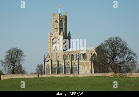 St Mary and All Saints church, Fotheringhay, Northamptonshire, England, UK - Stock Photo