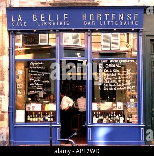 La Belle Hortense Marais Paris France French restaurant cafe pub book shop - Stock Photo