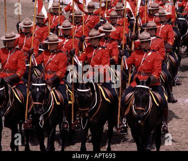 Ca Alberta Royal Canadian Mounted Police At The Calgary