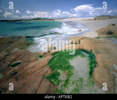 IE - CO. GALWAY: Beach on Omey Island - Stock Photo