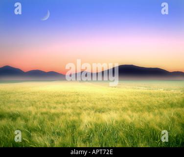 CH - NEUCHATEL: Landscape and Jura Mountains near St. Imier - Stock Photo