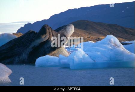 Mystic Icebergs Iceland - Stock Photo