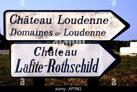 France wine Bordeaux Medoc Lafite Rothschild - Stock Photo