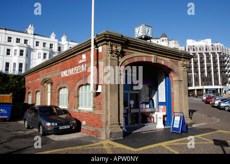 Eastbourne lifeboat RNLI museum on king edwards parade eastbourne east sussex england uk - Stock Photo
