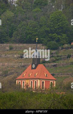 Weinbergskirche in Pillnitz, Germany - Stock Photo